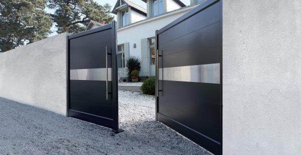 Portail aluminium for Installateur de porte et fenetre